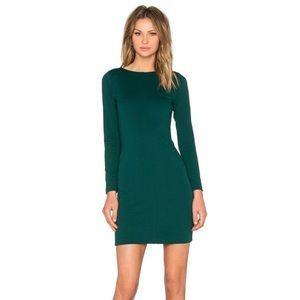 amanda uprichard forest green bodycon zipper dress